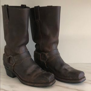 Frye Leather Boots with harness detail